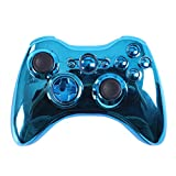 HDE Replacement Xbox 360 Controller Shell Cover & Buttons (Blue Chrome)
