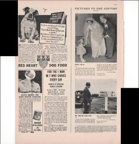 Red Heart Dog Food English Bulldog Puppy Pet Food 1939 Vintage Advertisement