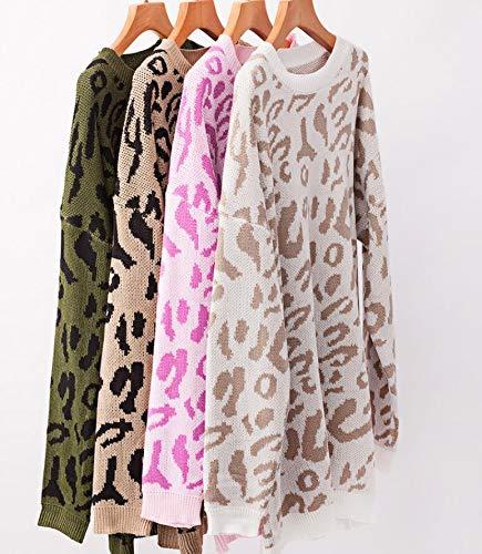 PRETTYGARDEN Women's Casual Leopard Print Long Sleeve Crew