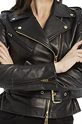 Juicy Couture BLACK LABEL Women's Moto Leather Jacket
