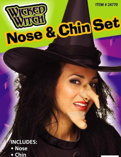 Forum Novelties 24770 Witch Nose and Chin Set -