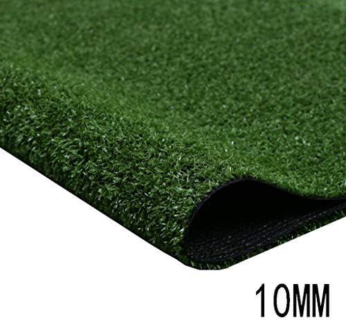 XEWNEG 10mm人工芝草、グリーン合成カーペットマット、耐火性、防水性、非退色性、清掃が簡単、屋外ガーデン装飾に適しています (Size : 2x18M)