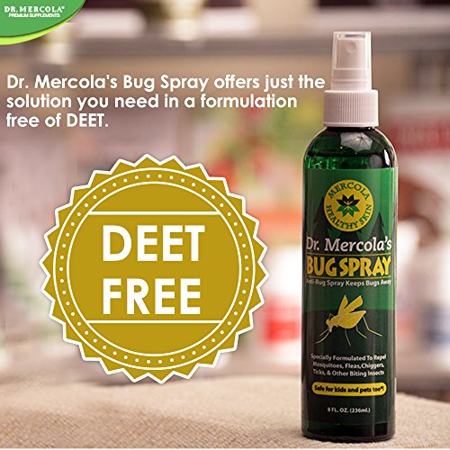 Dr Mercola Bug Spray - 8 Fl Oz Bottle - 100% Deet Free, Uses Essential Oils to Repel Mosquitoes, Fleas, Chiggers, Ticks, and Other Biting Insects, Pleasant Smell, No Harsh Chemicals by Dr. Mercola (Image #4)