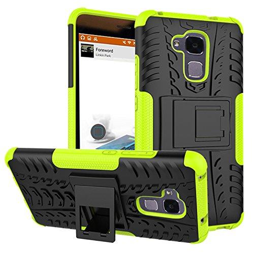 YAJIE-Carcasa Funda Para Huawei Honor 5C / Honor 7 Lite / Huawei GT3, nueva carcasa de doble armadura híbrida desmontable [Kickstand] 2 en 1 resistente a prueba de golpes cubierta de la caja ( Color : Green