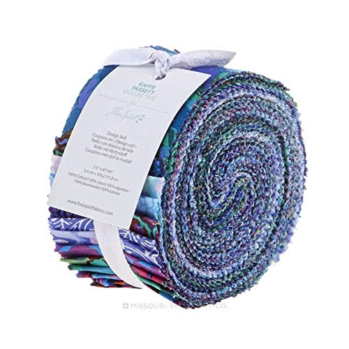 (Free Spirit Fabrics Kaffe Fassett Collective Peacock Design Roll with 40 Strips 2.5 by 44)