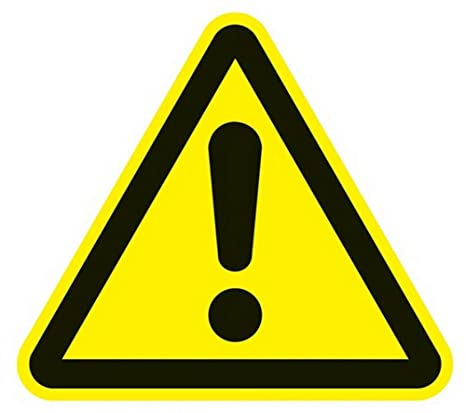 Señal de peligro 200x200mm 3-angular plástico amarillo/negro ...