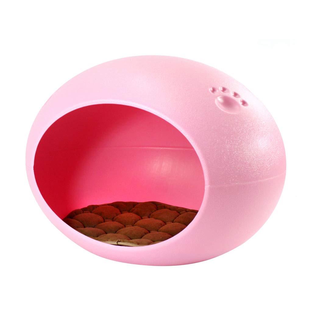 Pink LYYL006 Cute pet nest cat kennel four seasons universal pet nest, oval eggshaped pet nest (color   bluee)