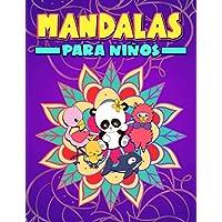 Mandalas para niños: Un bonito libro de colorear para principiantes con ilustraciones de animales que invitan a reducir…