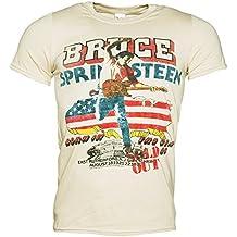 Truffleshuffle Men's Ecru 85 Us Tour Bruce Springsteen T-Shirt