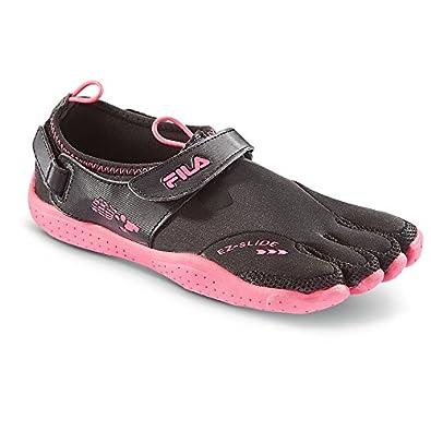 1ee6c905f9 Fila Women's Skele-Toes EZ Slide Water Blk/Fuchsia Synthetic Running Shoes  8 B