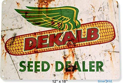 MNUP Dekalb Seed Dealer Garden Kitchen Farm Cottage Shop Store Vintage Unique Home Wall Decor Tin Sign 7.87
