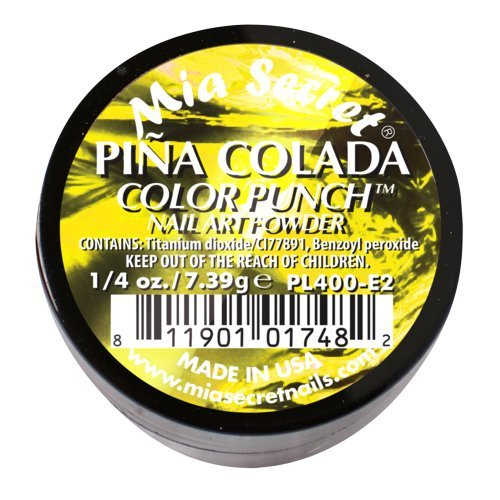 Mia Secret Professional Color Punch Collection Acrylic Powder ( Pick Your Color ) (Pina Colada)