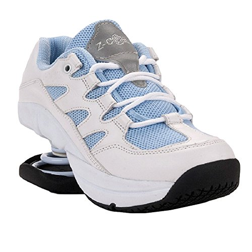 Sky Blue Rocker - Z-CoiL Pain Relief Footwear Women's Freedom Slip Resistant Sky Blue Leather Tennis Shoe 8 C/D US