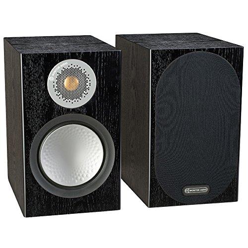 Monitor Audio Silver 50 - Par de caixas acústicas Bookshelf 2-vias para Home Theater Preto