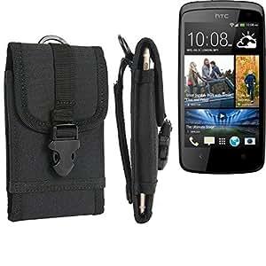 bolsa del cinturón / funda para HTC Desire 500, negro | caja del teléfono cubierta protectora bolso - K-S-Trade (TM)