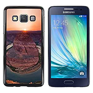 Paccase / SLIM PC / Aliminium Casa Carcasa Funda Case Cover para - Canyon Sunset Sunrise Sun Desert - Samsung Galaxy A3 SM-A300