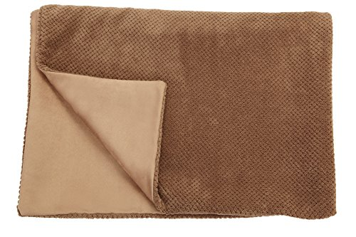 Big Blankie - XL Khaki - Soft Plush Reversible Dog Blanket b