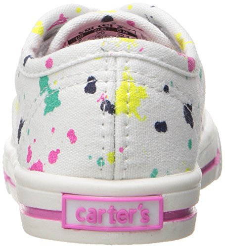 Carter's Piper Girl's Casual Sneaker, White/Print, 10 M US Toddler by Carter's (Image #2)