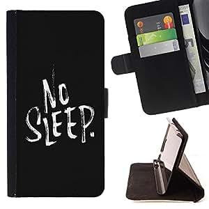 Devil Case- Estilo PU billetera de cuero del soporte del tirš®n [solapa de cierre] Cubierta FOR Samsung GALAXY ALPHA G850 SM-G850F G850Y G850M- No Sleep Kidding Funny Pattern