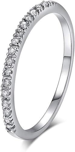 Titanium Ring Men/'s Wedding Band Diamonds Simulated Infinity Jewelry Size 6-13