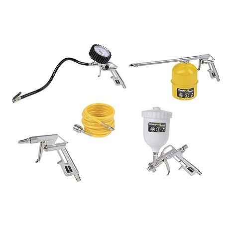 Kit 5 accesorios compresor pistola aire pintura Manómetro aerógrafo powair0020