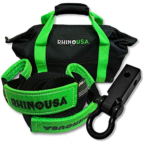Check Out This Rhino USA Combo Recovery Tow Strap (30ft) & Shackle Hitch Receiver - Lab Tested 31,51...