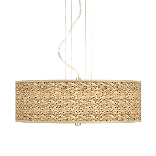 Pendant Lighting With Seagrass Shades in US - 9