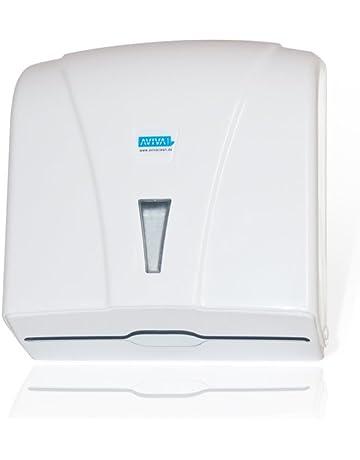 Aviva Clean - Dispensador de toallas de papel, de plástico, en blanco
