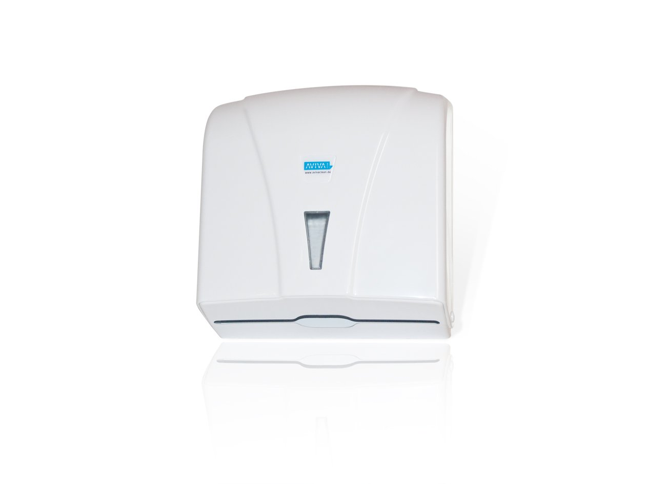 Papierspender Aviva Clean Papierhandtuchspender Papierhandtuchspender in wei/ß geeignet f/ür Krankenh/äuser Praxen etc. Kunststoffspender