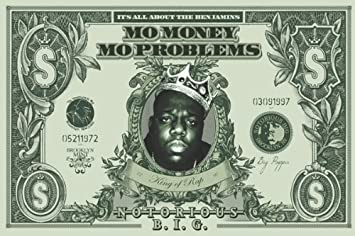 Notorious BIG - Dollar Poster Drucken (91,44 x 60,96 cm)