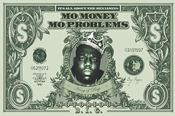 Notorious BIG - Dollar Poster Drucken (91,44 x 60,96 cm)