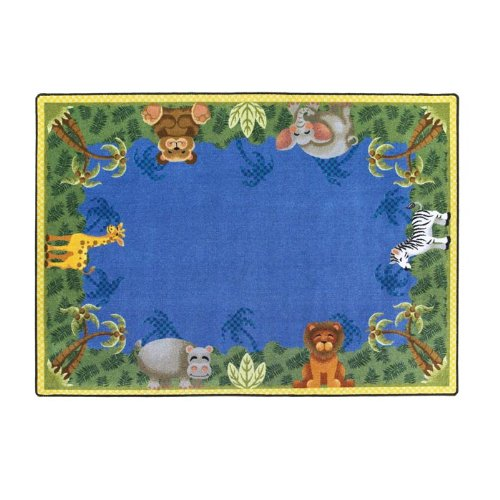 Just for Kidss Jungle Friends Kids Rectangle Rug Size: 5'4