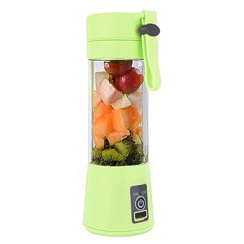 Mini exprimidor de frutas, Hunpta 380 ml USB Exprimidor de frutas eléctrico de mano batidora