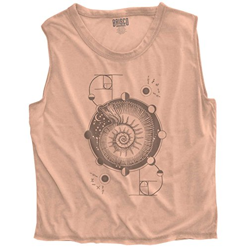 Brisco Brands Nautilus Shell Stylish Symbolic Cool Beautiful Spirit Animal Junior Crop Top