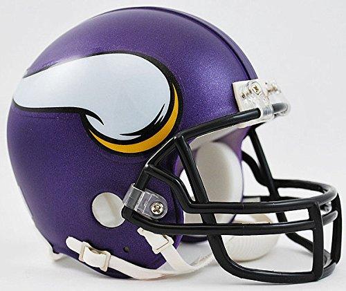 Riddell NFL Minnesota Vikings Satin Purple Replica Vsr4 Mini Football Helmet