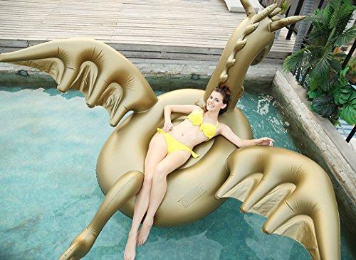 Luxy Float Giant Inflatable 103' Golden Dragon Pool Float