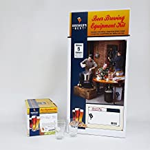 Brewer's Best Deluxe Equipment Kit with English Pale Ale Beer Ingredient Kit and 2 Chicago Brew Werks Tasting Glasses