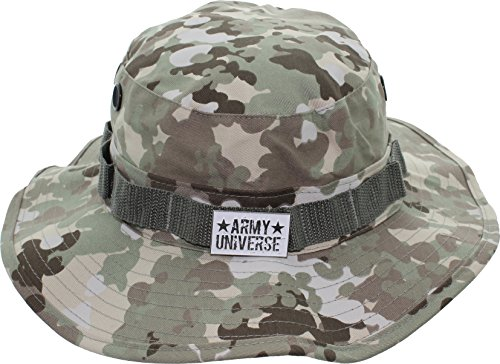 Terrain Bucket - Army Universe Total Terrain Camouflage Tactical Boonie Bucket Hat Pin - Size X-Large 7 ¾