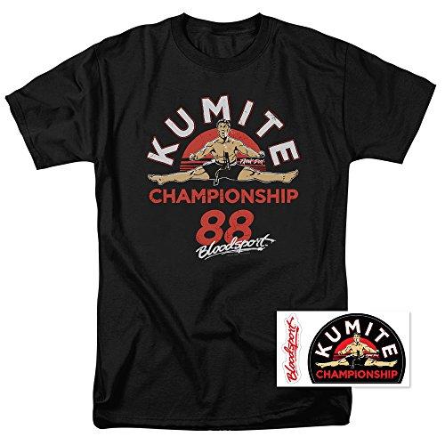Bloodsport Jean-Claude Van Damme Martial Arts Movie T Shirt & Stickers (Medium) from Popfunk