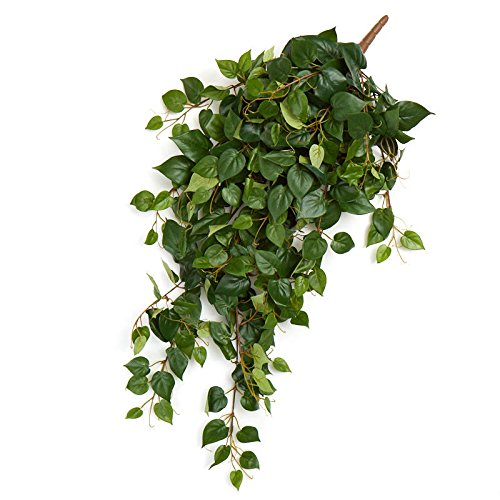 Ivy Cascading Silk Plant - Factory Direct Craft Draping Artificial Pothos Greenery Bushes | 2 Greenery Bushes