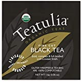 Teatulia Organic Black Tea 50 Individually Wrapped Tea Bags - Compostable Tea Bags