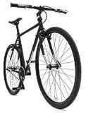 Retrospec Bicycles AMOK Convertible Single-Speed CycloCross/Commuter Bike with Chromoly Frame, Matte Black, 54cm/Medium