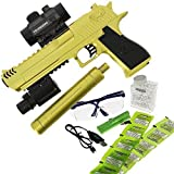DNA Leisure New 2018 Children & Adults Battery Operated USB Gold GEL SOFT Water Crystal Toy Gun Blaster Pistol Set 20m Range With 3000 Ammo Laser Dot and Silencer