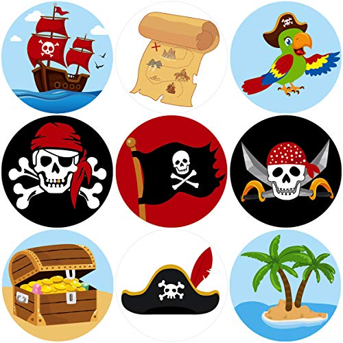 Pirate Perforated Roll Stickers for Kids 200Pcs Birthday Party Favor -