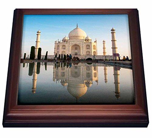 3dRose trv_225606_1 Agra. The Taj Mahal. Composite Image. Digitally Edited. Trivet with Ceramic Tile, 8 x 8