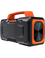 Bluetooth Speaker, BUGANI M118 Portable Bluetooth Speakers with 50W of Super Power, 100 Feet Wireless Range, Fast Charging, Microphone Input, Suitable for Party, Travel, Singing