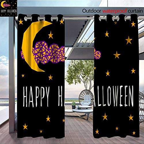 QianHe Patio Curtains Happy-Halloween-Card-Template-Abstract-Halloween-Pattern-for-Design-Card-Party-Invitation-Poster-Album-menu-t-Shirt-Bag-Print-etc-9.jpg Outdoor Curtain for Patio,Outdoor Patio -