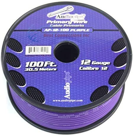 100ft roll 7 Rolls Audiopipe Trailer Wire Light Cable for Harness 7 Way Cord 12 Gauge