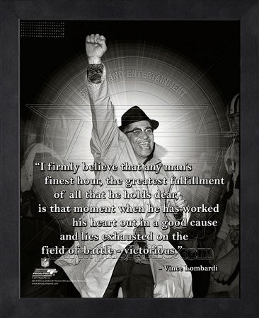 Amazon.com: Vince Lombardi Green Bay Packers Framed ProQuote - Fist ...