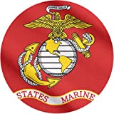 US Marine Corps Flag 3x5 - 100% Made In USA using Tough, Long Lasting Nylon Built for Outdoor or Indoor Use, UV Protected and Featuring Locked Stitches on Hems and Quadruple Stitching on the Fly End